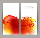 Two red banners Royalty Free Stock Photography