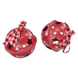 Two red bells on a white background 3d render Royalty Free Stock Photos