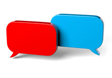 Two Red and Blue Bubble Speech Stock Photos