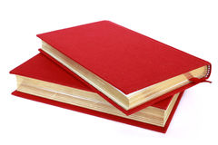 Two red books isolated on white Stock Photo
