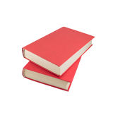 Two red books Royalty Free Stock Photography