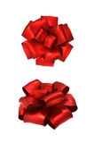 Two red bow Stock Image