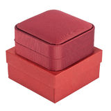 Two red boxes Royalty Free Stock Image