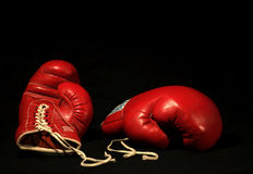Free Two Red Boxing Gloves Royalty Free Stock Images - 2609079