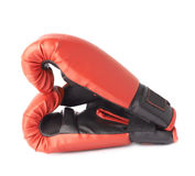 Two red boxing gloves composition Royalty Free Stock Photos