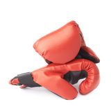 Two red boxing gloves composition Royalty Free Stock Photography