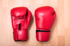 Two red boxing gloves Stock Image