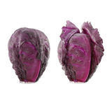 Two red cabbage with water drop Royalty Free Stock Photography