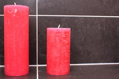 Two red candles Royalty Free Stock Photo