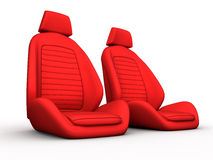 Two red car seat Stock Photos