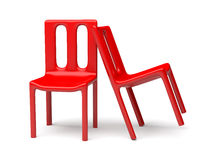 Two Red Chairs Stock Image