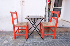 Two red chairs Royalty Free Stock Photography