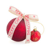 Two red Christmas balls Royalty Free Stock Images