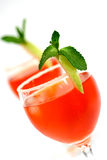 Two red cocktail concoction Royalty Free Stock Image