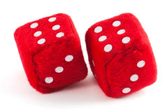 Two red cubes Royalty Free Stock Images