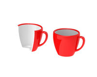Two red cups Stock Photography