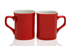 Two red cups Royalty Free Stock Photo