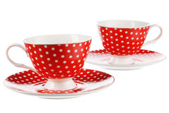 Two red cups Stock Photo