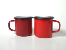 Two red cups Stock Image