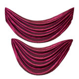 Two red curtains royalty free stock image