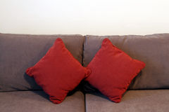 Two Red Cushions Stock Photos