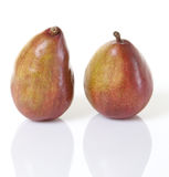 Two Red d'Anjou Pears Isolated Royalty Free Stock Images