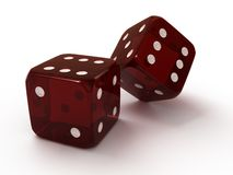 Two red dice Stock Photography