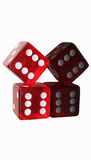 Two Red Dice Stacked Royalty Free Stock Image