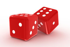 Two red dices Royalty Free Stock Image