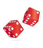 Two red dices Stock Image