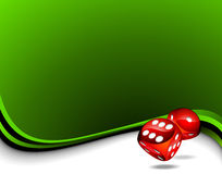 Two red dices for a casino theme Royalty Free Stock Photography