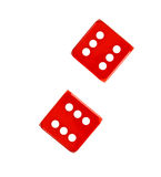 Two red dices Royalty Free Stock Photos