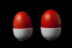 Two Red Easter Eggs Royalty Free Stock Image