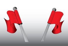 Two red flags Royalty Free Stock Image