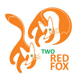 Two red fox Royalty Free Stock Photos