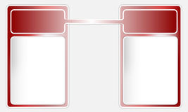 Two red frames for text. Two red frames for any text Stock Illustration