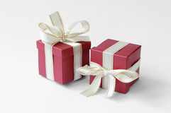 Two red gift boxes Stock Photography