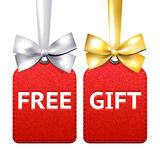 Two red gift tags Royalty Free Stock Images