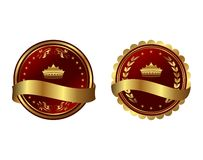 Two red gold-framed labels Royalty Free Stock Images