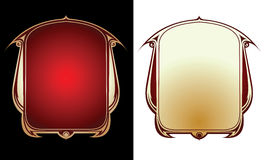 Two Red Gold Frames Royalty Free Stock Photo
