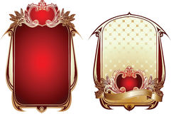 Two Red And Gold Ornate Backgrounds. Two Red And Gold Glow Ornate Backgrounds Stock Photography