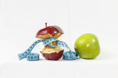 Two red and green apple healthy food Royalty Free Stock Photo