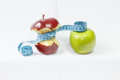 Two red and green apple healthy food Royalty Free Stock Photography