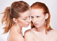 Two red-haired beautiful woman Royalty Free Stock Photo