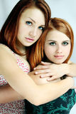 Two red-haired women Stock Photos