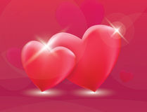 Two red heart love vector Stock Photo