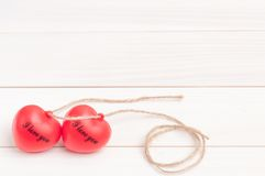Two red heart Royalty Free Stock Photo