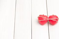 Two red heart Royalty Free Stock Images
