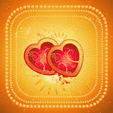 Two red heart,vector  Royalty Free Stock Image