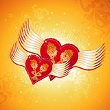 Two red heart, vector Royalty Free Stock Images